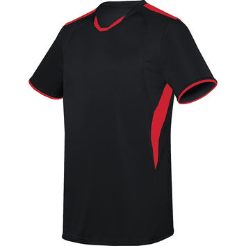 High Five 22890 Adult Globe Jersey - Black Scarlet