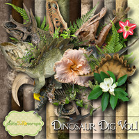 Dinosaur Scrapbooking Kit Dinosaur printable Dinosaur Papers Dinosaur Dig Printable Backgrounds 12x12 Dinosaur Paper FREE Quickpage Layout