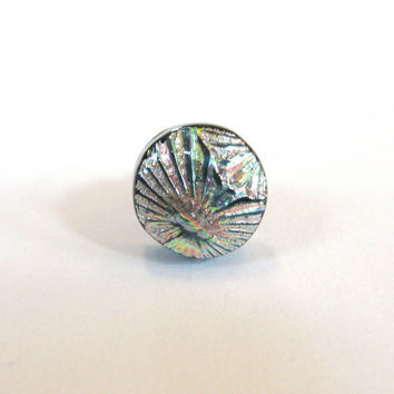 Multi-colored  Dichroic Tie Tack, Lapel Pin, Mens Jewelry, Womens Scarf Pin, Hat Pin, Womens Jewelry - Robust - 034 -2