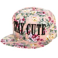 The Pink Rose Snapback in Pink Floral