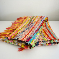 Rag Rug Braided Reversible Woven Mat In a Rainbow of Colors