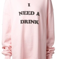 Wildfox 'I Need a Drink' sweatshirt