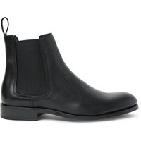 Lanvin - Pebble-Grain Leather Chelsea Boots