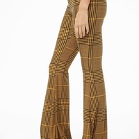 Glen Plaid Flare Leggings