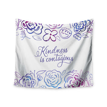"Noonday Design ""Kindness Is Contagious"" Purple Magenta Wall Tapestry"