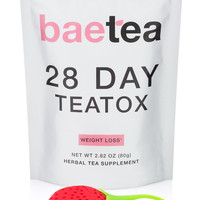 BAEBODY 28 Day Weight Loss Tea Detox with Free Infuser