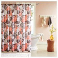 Floral Shower Curtain Coral