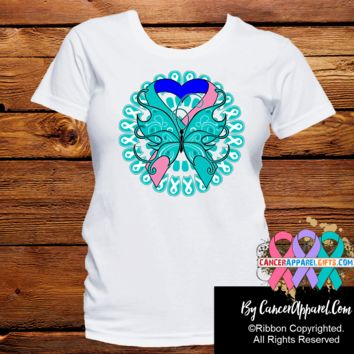 Thyroid Cancer Stunning Butterfly Shirts