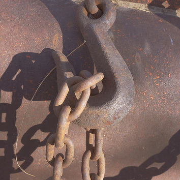 Rusted Hook And Chain