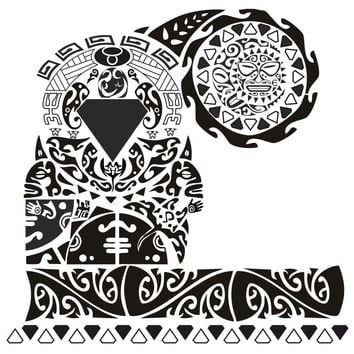 Scapula Tattoo Waterproof  Temporary Tattoos men Design tatoo Make Up Body Art Henna Tattoo Stickers tatuajes cool tatoo sleeve