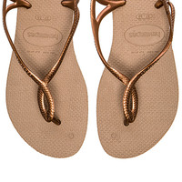 Luna Flip Flop in Rose Gold