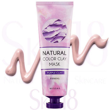 Missha Natural Color Purple Clay Mask (Firming)