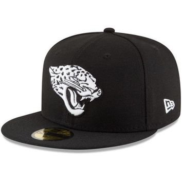 DCCKG8Q NFL Jacksonville Jaguars Men's New Era B-Dub 59Fifty Fitted Hat