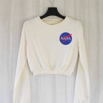 Nasa Crop Top Sweatshirt Sweater Shirt – Size S M L