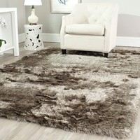 Safavieh Handmade Silken Paris Shag Sable Brown Polyester Area Rug (4' x 6') - 13651049 - Overstock - Great Deals on Safavieh 3x5 - 4x6 Rugs - Mobile