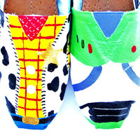 The Woody  Toy Story Inspired Custom Painted TOMS by FruitfulFeet