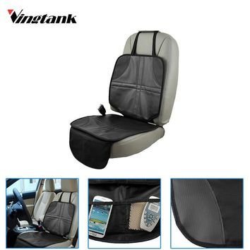 Oxford Car Seat Protector Mat Child Baby Auto Seat Protector Mat Protection For Car Seats With Mesh Storage Pocket
