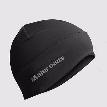 Sports Skull Cap Hiking Hat Helmet Liner Daily Beanie Motor cycling Jogging Running Skiing Black Rose helmet liner for Men Women