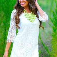 Bed Of Roses Lace Dress: White   Hope's
