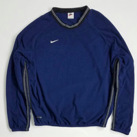 Men's NIKE FIT Fleece Crewneck Sweatshirt Size Large