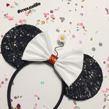 Sequined Vintage Minnie Inspired Ears