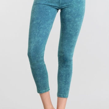 Mineral Wash Yoga Leggings