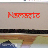 Namaste - Vinyl Wall Art - FREE Shipping -  Sanskrit Yoga Wall Decal