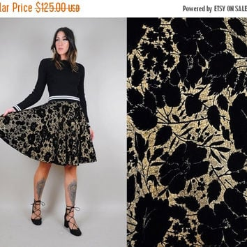 SALE 1950's VELVET floral party skirt