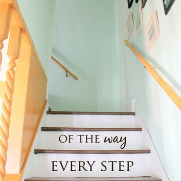Stair Decal - Staircase Ideas - Stairway Ideas - Stairs Quotes - Stair Riser Decals - Floor Decals - Wall Stickers - Wall Decals