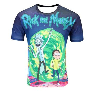 Colorful 3D Printed High Quality Tees #ricknmorty