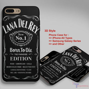 lana del rey jack daniels 2 - Personalized iPhone 7 Case, iPhone 6/6S Plus, 5 5S SE, 7S Plus, Samsung Galaxy S5 S6 S7 S8 Case, and Other