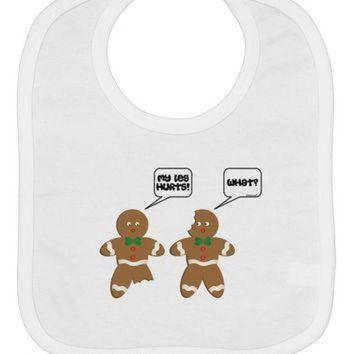 DCKL9 Funny Gingerbread Conversation Christmas Baby Bib