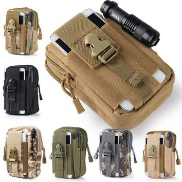 Universal Waist Belt Bag Wallet Pouch Outdoor Tactical Holster Military Molle Hip Purse Phone Case with Zipper for iPhone 7 /LG