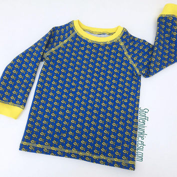 Blue Yellow Submarine Sweater for Toddler Boys or Girls, Gender Neutral Sweater, Cozy Boys Jumper, custom size, European Kids Stoffenjunkie