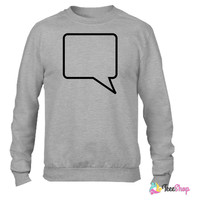 add your text to a comic book quote bubble Crewneck sweatshirtt