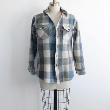Vintage 80s Woolrich Women's Block Plaid Jacket | medium