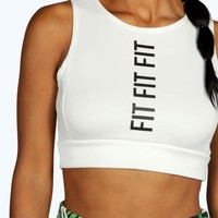 Amelia Fit Slogan Crop Bralet
