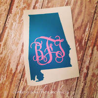 Two Tone Monogrammed State - Any State Available
