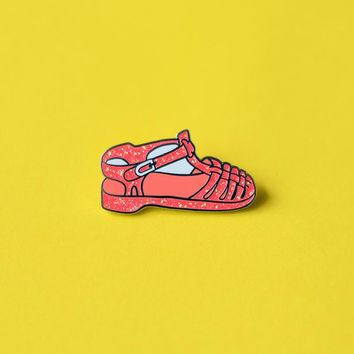 Jelly Shoe Enamel Pin