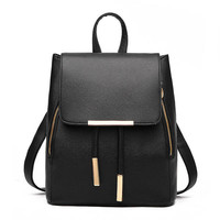 Stylish Simple Urban Womens Backpack Black Bag