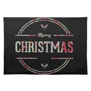 Merry Christmas Greeting Placemat