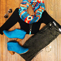 Remind Me Aztec Infinity Scarf