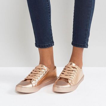Qupid Lace Up Sneakers at asos.com
