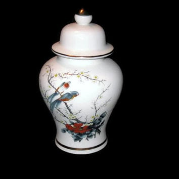 Vintage Urn, Jay Fine China, Urn Vase, Lidded Vase, Lidded Urn, Home Decor, Collectible, Table Urn, Vintage Urn, Vintage Home Decor