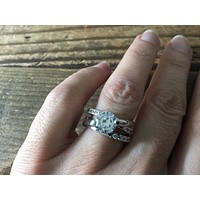 SALE 2CT Round Cut Solitaire Russian Lab Diamond Engagement Ring