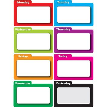 MAGNETIC TIME ORGANIZERS COLOR FILE