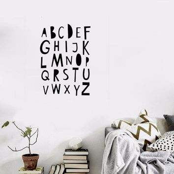 Nordic INS English letters Proverbs Wall Stickers Kids baby Room Bedroom Dormitories Removable Waterproof Wall Stickers