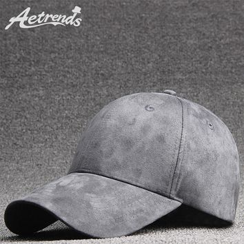 Trendy Winter Jacket [AETRENDS] 2018 New Suede Baseball Cap Men Women 6 Panel Snapbacks Outdoor Polo Sport Hats Z-6280 AT_92_12