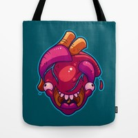 Happy Heart Tote Bag by Artistic Dyslexia | Society6