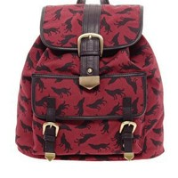 ASOS Wolf Print Backpack at asos.com